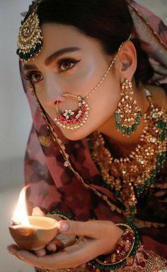 Pakistani Wedding Dresses, Pakistani Bridal, Cute Girl Pic, Cute Girls, Dps For Girls, Beautiful Women Videos, Fashion Terms, Indian Nose Ring, Pakistani Actress
