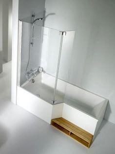 Combiné douche-baignoire marche paroi douche salle de bains