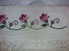 Çok cici Cross Stitch Needles, Cross Stitch Patterns, Bargello, Embroidery, Crochet, Creative, Floral, Cross Stitch Rose, Embroidered Towels