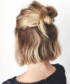 New Chin Length Half Updo Haircuts 2018 for Women