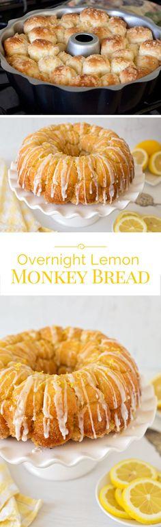This Overnight Lemon Monkey Bread is a lemon lovers dream. Every little bite of this luscious lemon bread is coated in a sweet tart lemon sugar.