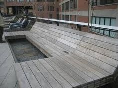 Image result for wood benches high line
