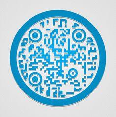 Pushing QR code design #QR #QRcode Nottingham, Type Design, Graphic Design, Code Art, Plastic Tags, Portfolio Website, Qr Codes, Coding, Royal Mail