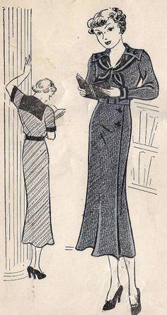 1930s Junior Dress with Sailor Collar