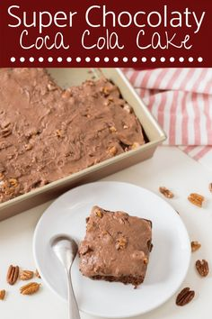Stir together this Super Chocolaty Coca Cola Cake. It is easy, moist and delicious! The perfect Southern dessert.