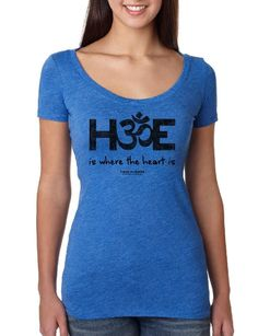 H-OM-E Is Where the Heart Is - Ladies Scoop Neck Fitted