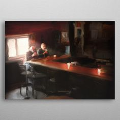 Two friends enjoying a pint at. by Josh King Artwork Prints, Cool Artwork, Poster Prints, Dublin Pubs, Canvas Art, Canvas Prints, Irish Art, Print Artist, Art Boards