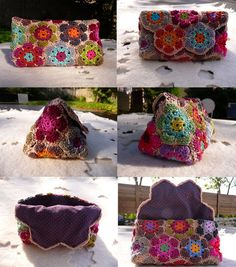 I want to make these, but I can never seem to figure out what colors I want to make them into. http://grannymania.canalblog.com/archives/_5_les_sacs_et_pochettes/p470-0.html