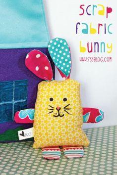 Scrap Fabric Bunny Pattern