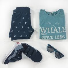 Baby Boy Inspiration #Baby #Blue #Summer #vans #nameit | Olliewood