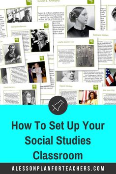Read this great post on 6 perfect resources for setting up and decorating your Social Studies classroom! It is filled with great ideas that will not only create a nice climate, but they will also help you form a great community. Social Studies Classroom, High School Classroom, Teaching Social Studies, Classroom Setup, Teaching Strategies, Teaching Resources, Teaching Ideas, Geography Lessons, Teaching Geography