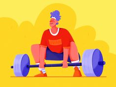 Weight Lifting designed by Uran. Connect with them on Dribbble; the global community for designers and creative professionals. Flat Illustration, Character Illustration, Graphic Design Illustration, Illustrations, Lift Design, Affinity Designer, Pinterest Photos, Saint Charles, Show And Tell