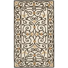 Safavieh Hand-hooked Chelsea Irongate Ivory Wool Rug (2'6 x 4') (HK11H-24), Beige Off-White, Size 2'6 x 4' (Cotton, Border)