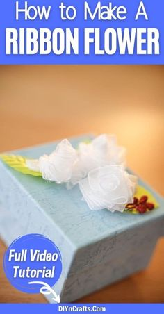 These beautiful miniature ribbon flowers are the ideal fast and easy craft to add to any gift, party table, or even tucked into your hair! A perfect homemade flower tutorial that is easy for anyone to make in under 5 minutes! #Flowers #RibbonFlower #MiniatureFlower #EasyFlower #EasyCrafts Cute Crafts, Easy Crafts, Crafts For Kids, Diy Craft Projects, Craft Ideas, Traditional Bow, Ribbon Flower Tutorial, Book Purse, Create And Craft