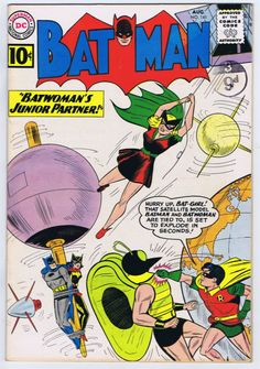 Batman #141;  Issued: August, 1961. Characters: Batman [Bruce Wayne]; Batwoman [Kathy Kane]; Bat-Girl [Betty Kane]; Robin [Dick Grayson]; The Moth.  www.ephemeritor.com