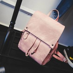 preppy style women backpacks 2016 new fashion PU ladies backpack casual solid string travel girls school bags candy color,LB2214