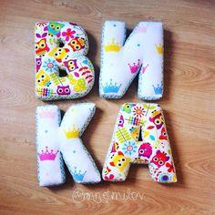 Именные буквы подушки, мягкие буквы, гирлянды из букв, буквы слова, бортики, заказать и купить