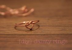 dainty rings {DIY tutorial} http://www.deliciousdudsblog.com/2012/01/dainty-rings-diy-tutorial.html