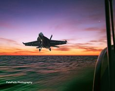 F-18 at sunrise by Pete Federico