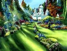 #Supreme_Sanctuary painted br #Akiane_Kramarik (child prodigy at age 11). Akiane reportedly had visions of and visits with the Divine. This is her interpretation of what heaven looks like.  A beautiful place.