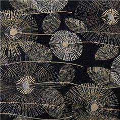 DEC2-3 Ebony Pop Bloom Fabric