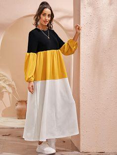 Stylish Dresses For Girls, Stylish Dress Designs, Designs For Dresses, Simple Dresses, Casual Dresses, Fall Dresses, Modesty Fashion, Muslim Fashion, Fashion Dresses