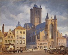 German painter Eduard Gaertner was one of the leading painters of Berlin cityscapes of the 19th  century. He started his training in 1814 wh...
