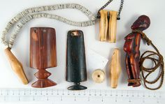 P7272463 old Ivory Amulets, Lobi people, Burkina Faso & Toposa People, Sudan by ann porteus, Sidewalk Tribal Gallery, via Flickr