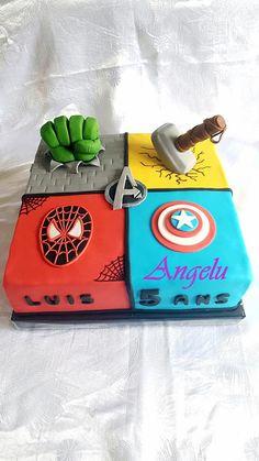 Avengers cake All in fondant For my nephew The Avengers, Avengers Memes, 7th Birthday, Birthday Parties, Buddha Birthday, Avengers Birthday Cakes, Batman Birthday, Captain America, Hulk Cakes