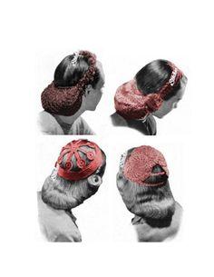 1940s Snood Set of 4 Head Coverings Hats  - 4 Crochet patterns PDF 0435