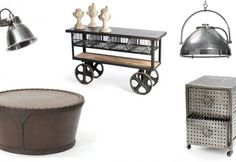 Industrial vintage is ideal for a chic downtown apartment Repinned by www.silver-and-grey.com