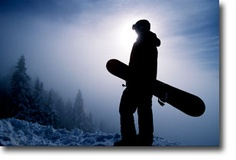 "I love the caption with this picture ""You push yourself, because you are a snowboarder."""