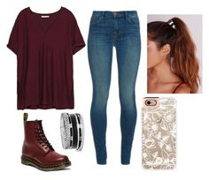 """""""Untitled #262"""" by juleenm ❤ liked on Polyvore featuring moda, J Brand, Zara, Dr. Martens, Missguided, GUESS y Casetify"""