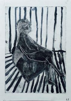 "Linn Sundqvist ""Untitled"" Monoprint on paper"
