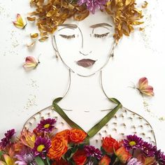 I Stability Twigs And Flowers To Generate Intricate Portraits Out Of Mother Nature