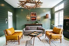 Whether you want to create a log cabin look or a more refined effect, you can't go wrong with deep green. Hunter, emerald, spruce: These shades can read warm or cool, rustic or modern, and work beautifully with layered neutrals and pops of red and gold. Here, inspiring ways to use this comforting color palette to achieve a range of totally different styles.
