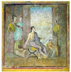 Muurschilderingen (fresco's) in Pompeii