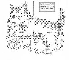 Embroidery Stitches Patterns | ... cats cross stitch embroidery free patterns kittens transfers x stitch