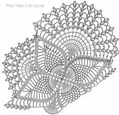 Doily English Thread Crochet Swirled Star Hand Made 1920s