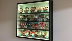 Pop Vinyl/Action Figure/Die cast car, collectible display case with adjustable shelves & LED lights Funko Pop Shelves, Funko Pop Display, Action Figure Display Case, Vinyl Figures, Action Figures, Anime Figures, Displaying Collections, Pop Vinyl, Room Themes