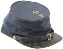 Military & Patriotic:Civil War, Excellent Government Issued Cap Identified to a Vermont Regiment.The exterior of this tall, standard Union forage cap is in...