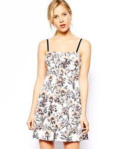 ASOS Print Large Pleat Shift Dress