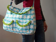 Another bag sewing pattern! This one is suitable for an intermediate seamstress and features pretty ruffled flaps, snap closure, and an adjustable strap! The small front pockets are also 3-dimensional. The beautiful detailing on this bag combines with functionality – it has 4 inner pockets and can hold a lot of stuff! I… ReadMore