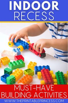 Needing fun ways to engage your kindergarten students during indoor recess? These 12 indoor recess ideas bring the fun, creativity, and fine motor skills! Read on for indoor recess must-haves and building activities that your students will love! #indoorrecess #iteachk #kindergartenteacher #kindergartenclassroom