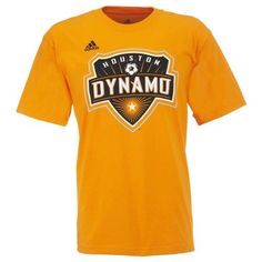 Adidas Men s Houston Dynamo Logo T-shirt (Orange 0ed126e6f