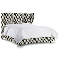 Mercer41 Couture Upholstered Bed Size: Full, Upholstery: Linen Talc