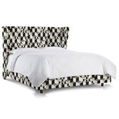 Mercer41 Couture Upholstered Bed Upholstery: Linen Black, Size: California King