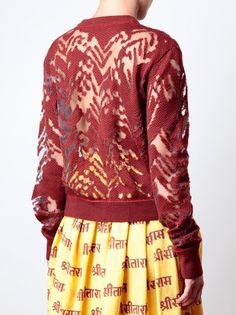 ALEXANDER WANG - Dissolving herringbone merino wool knit 3