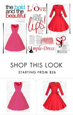 """""""SimpleDress 21"""" by red-rose-girl ❤ liked on Polyvore featuring vintage"""