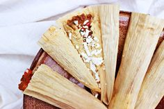 Vegetarian Tamales - with spiced pinto bean filling
